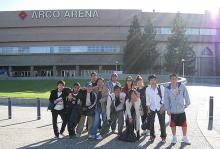 ALCI students outside of Arco Arena