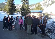 ALCI students prepare to ski and snowboard