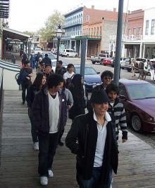 ALCI students in downtown Sacramento