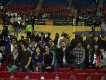 ALCI students at a Sacramento King's basketball game