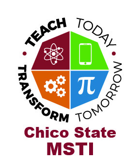 Logo: Math and Science Teacher Initiative (MSTI) at CSU, Chico
