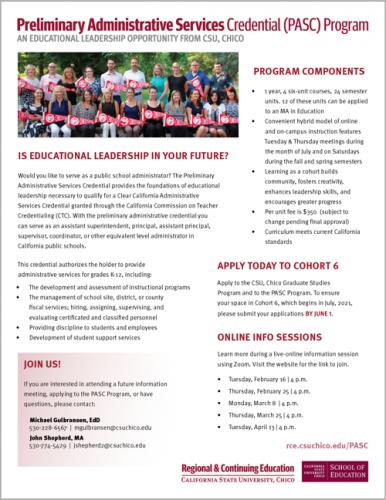 Image of PASC Program Flyer