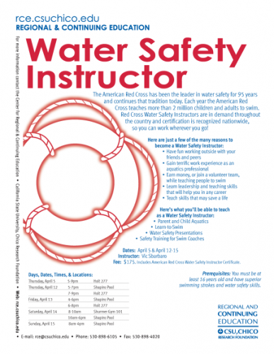 Water Safety Flyer